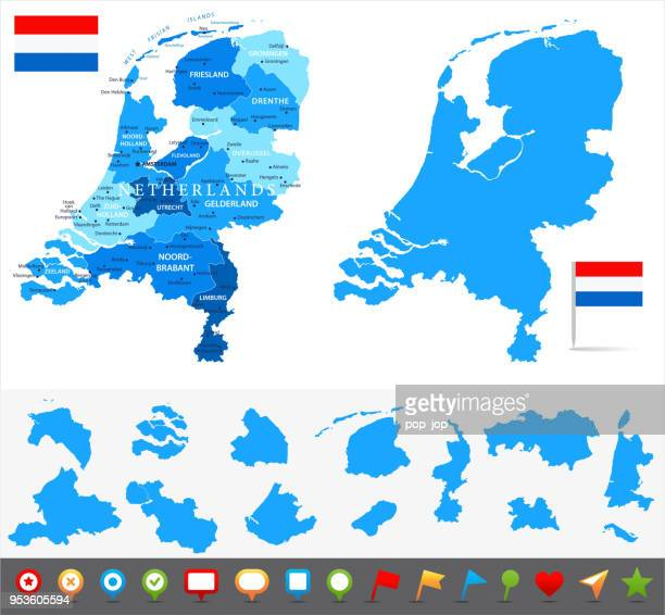 stockillustraties, clipart, cartoons en iconen met 29 - nederland - blauw en stukken 10 - noord holland