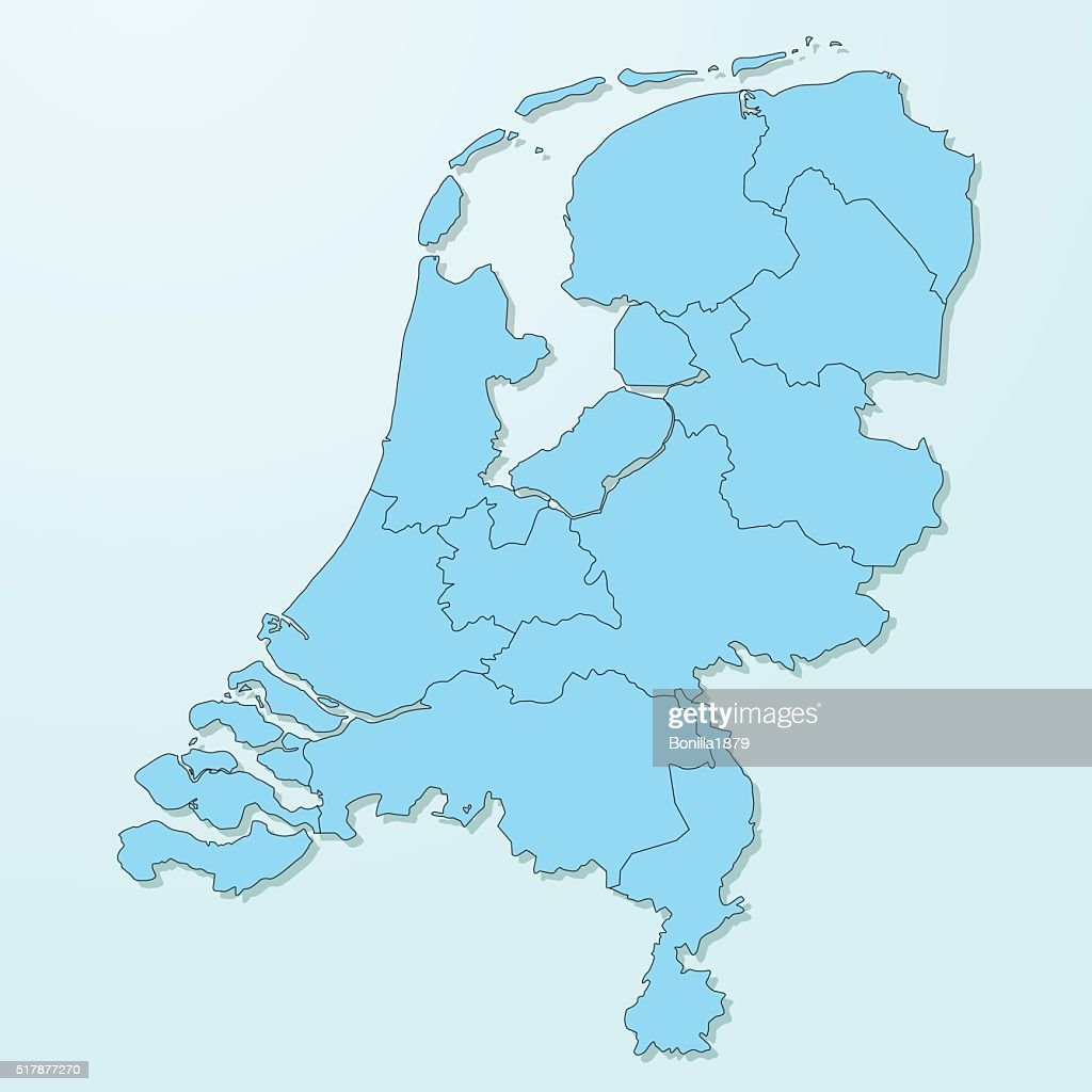 Netherlands blue map on degraded background vector
