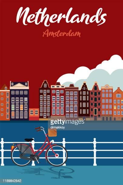 netherlands cartoon map - middelburg netherlands stock illustrations
