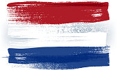 Netherlands colorful brush strokes painted flag