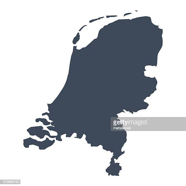 netherlands country map - netherlands stock illustrations