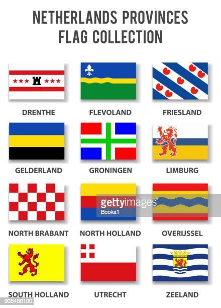 オランダ国旗コレクション - 完全です - オランダ リンブルフ州点のイラスト素材/クリップアート素材/マンガ素材/アイコン素材