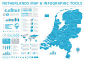 Netherlands Map - Info Graphic Vector Illustration