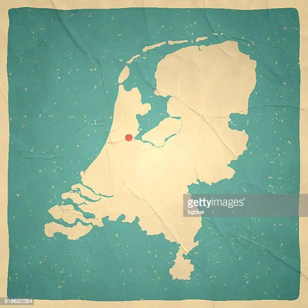 Baixos mapa na textura de papel antigo-vintage