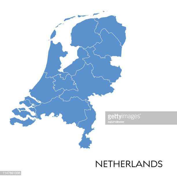 netherlands map - netherlands stock illustrations