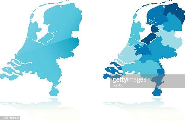 オランダマップ - オランダ リンブルフ州点のイラスト素材/クリップアート素材/マンガ素材/アイコン素材