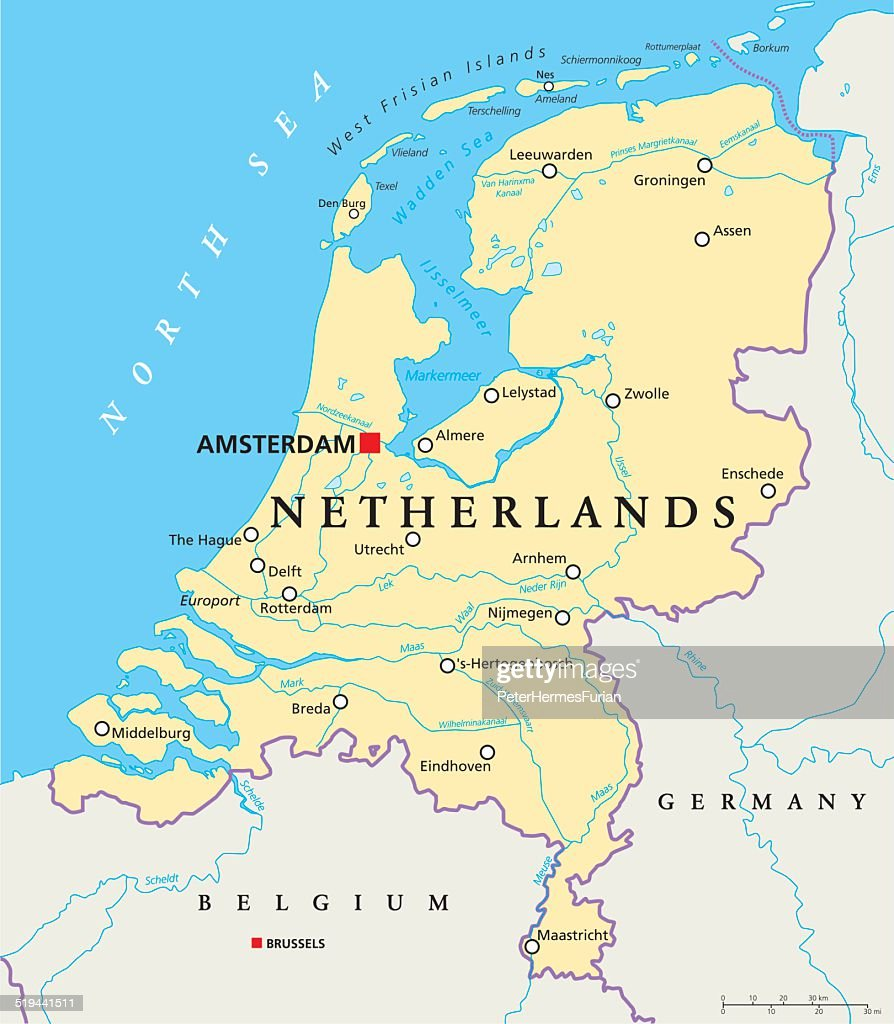 Netherlands Political Map