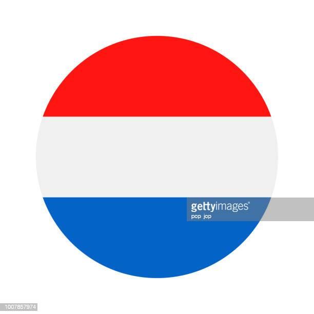 netherlands - round flag vector flat icon - netherlands stock illustrations