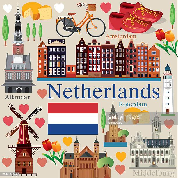 netherlands - netherlands stock illustrations