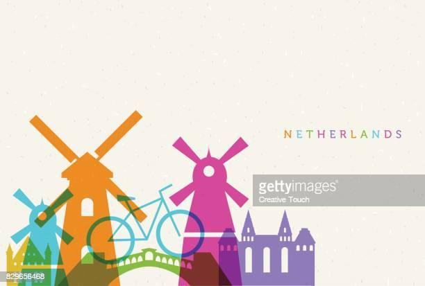 netherlands - amsterdam stock illustrations, clip art, cartoons, & icons