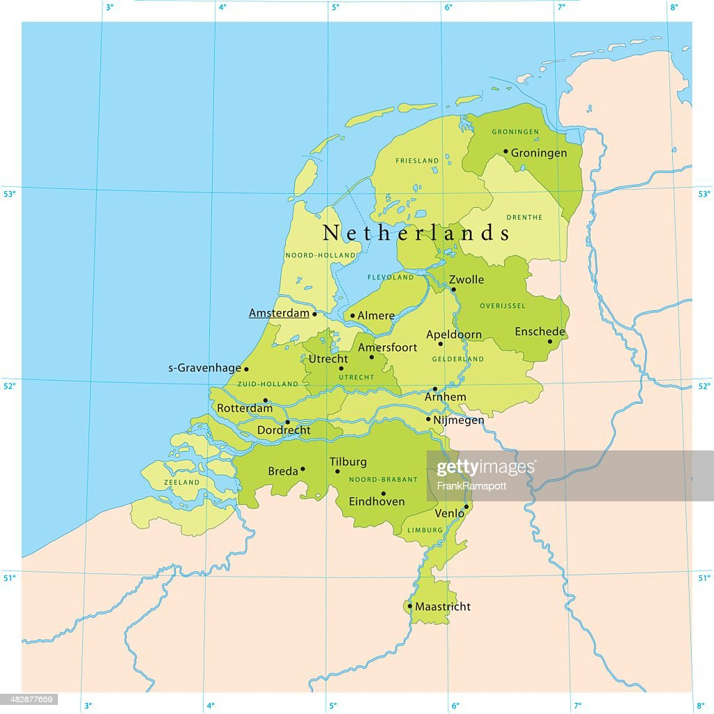 Netherlands Vector Map Vector Art Getty Images