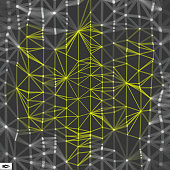 Network Abstract Background. 3d Technology Vector Illustration.