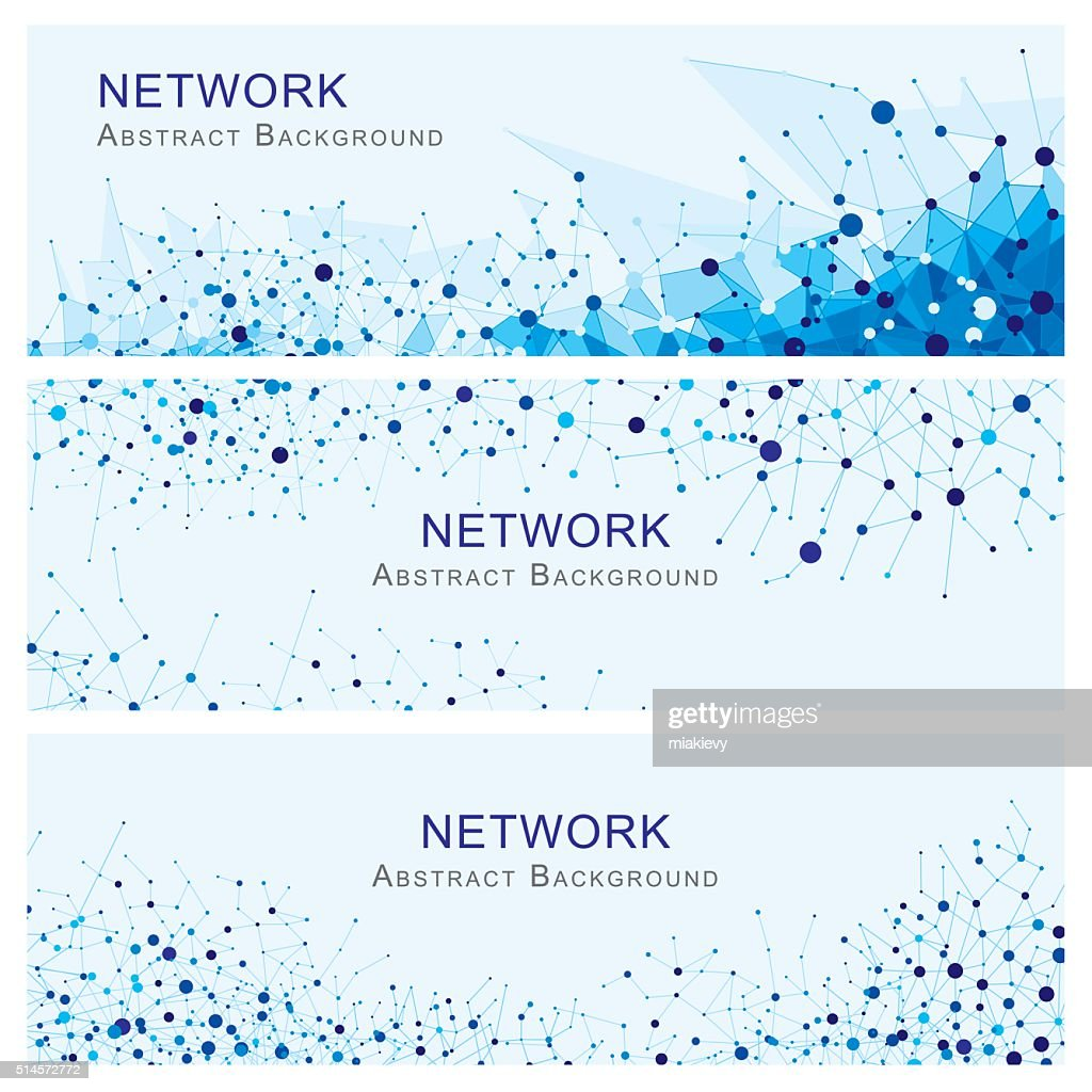 Network Abstract Banners