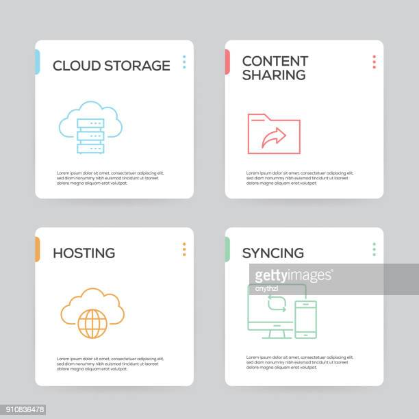 Network and Cloud Computing Infographic Design Template