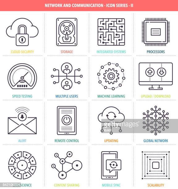 Network and Communication Icon Set