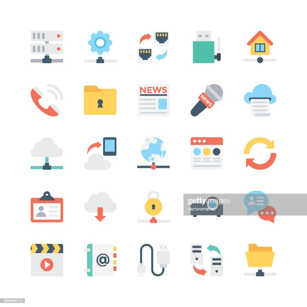 Network and Communications Vector Icons 1