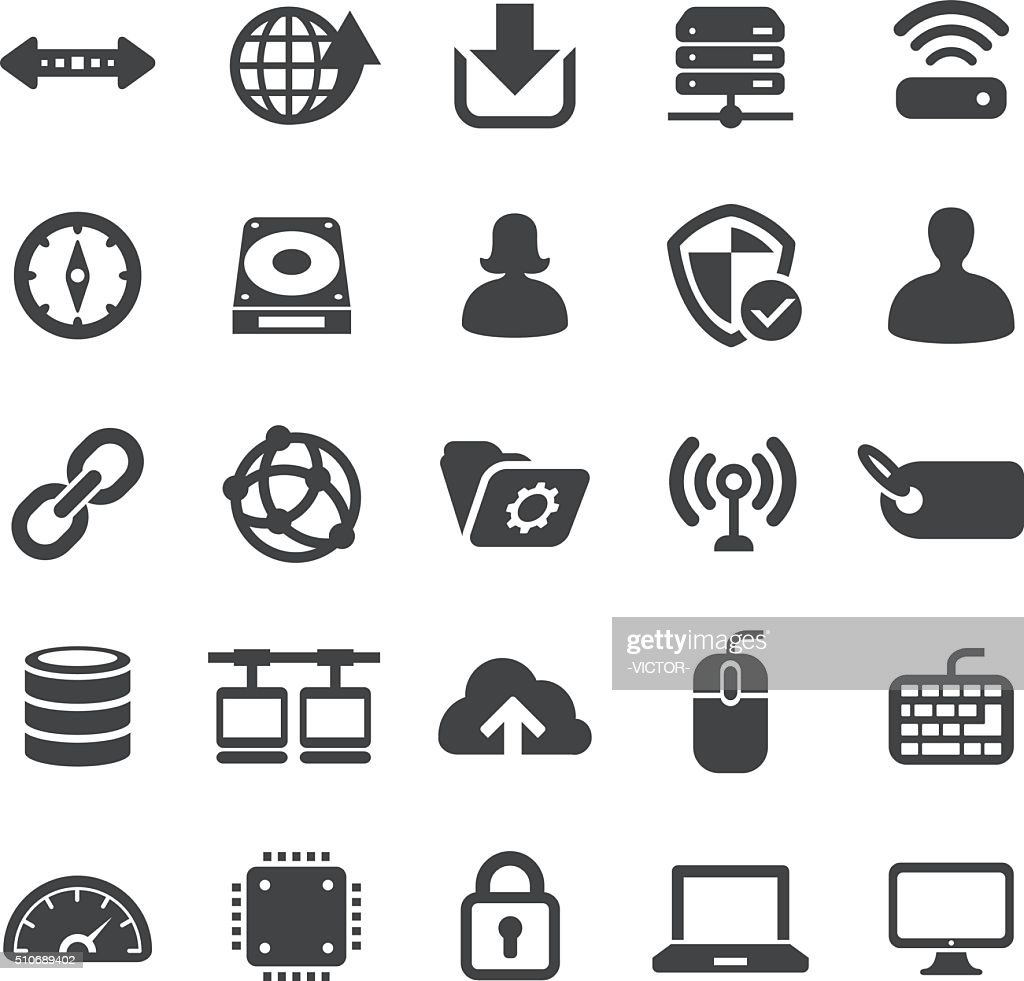 Network and Computers Icons Set - Smart Series