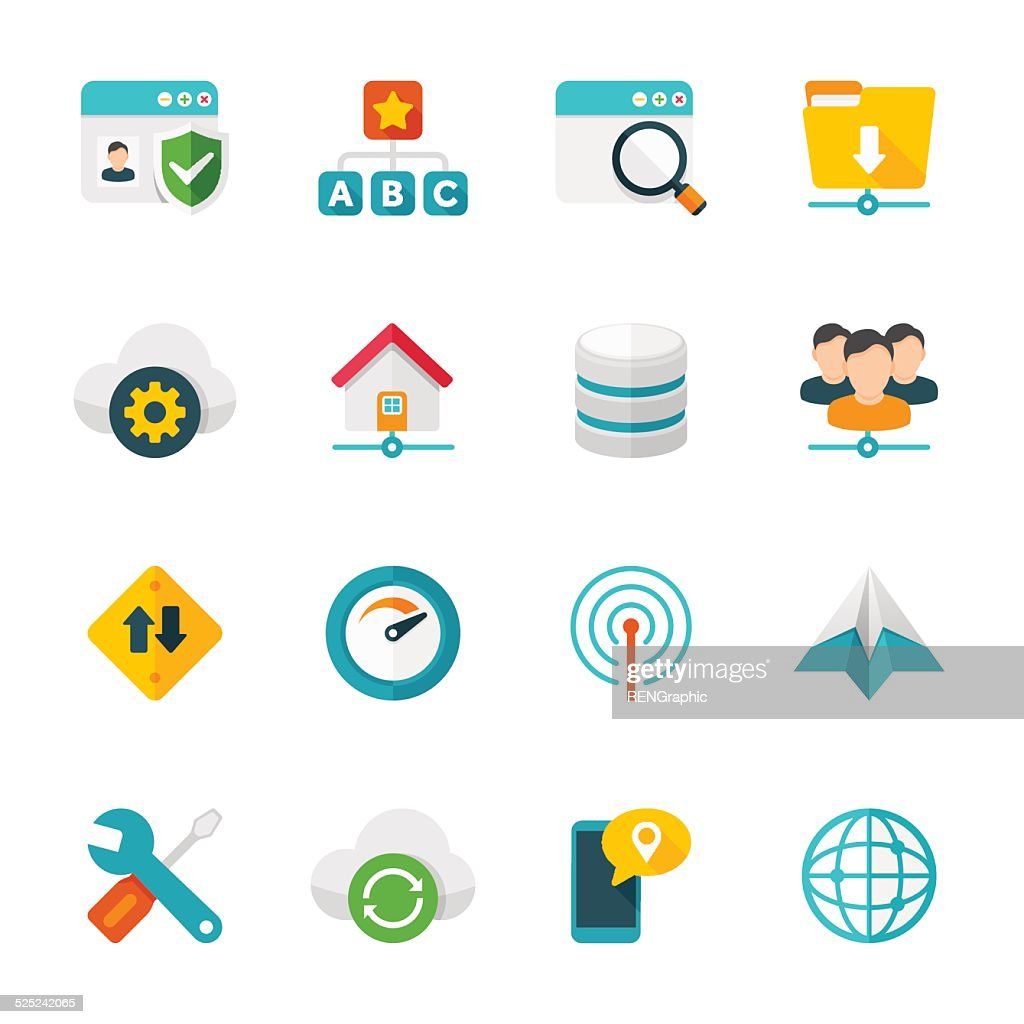 Network & Communications Set | Flat Design Icons