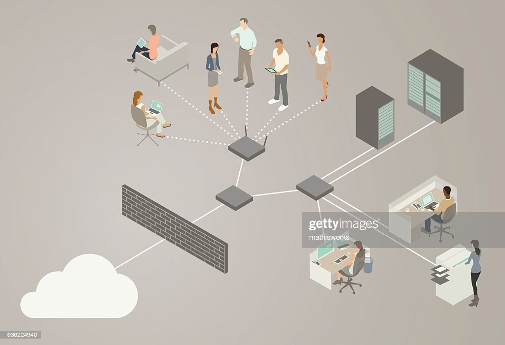 Lan network diagram vector art getty images lan network diagram vector art ccuart Image collections