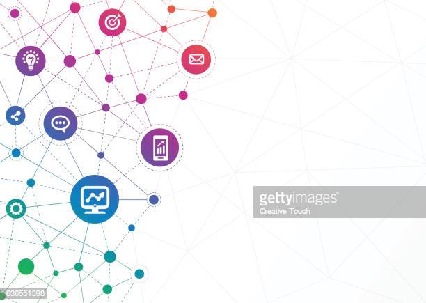 Network Dots - Business Gradient