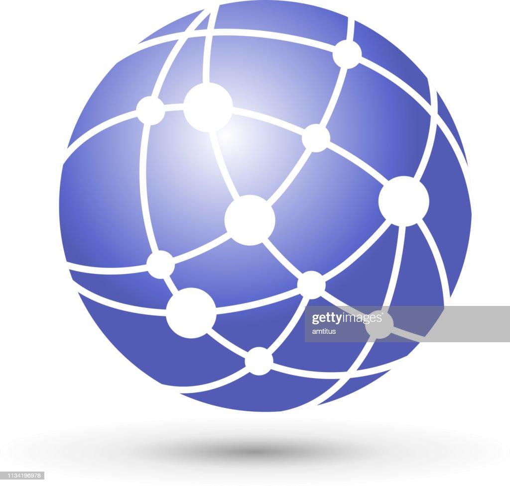 globo di rete : Illustrazione stock