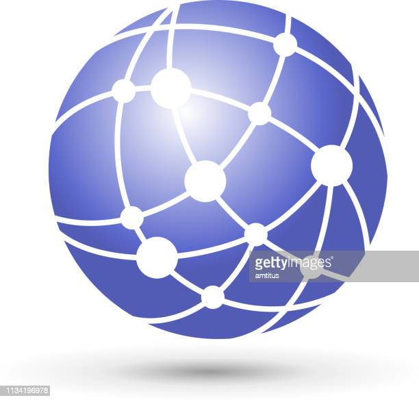network globe - wireless technology stock illustrations