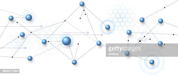 network globes - atom stock illustrations