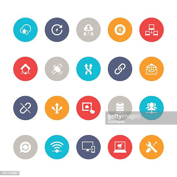 Network Icon Set | 5color Series