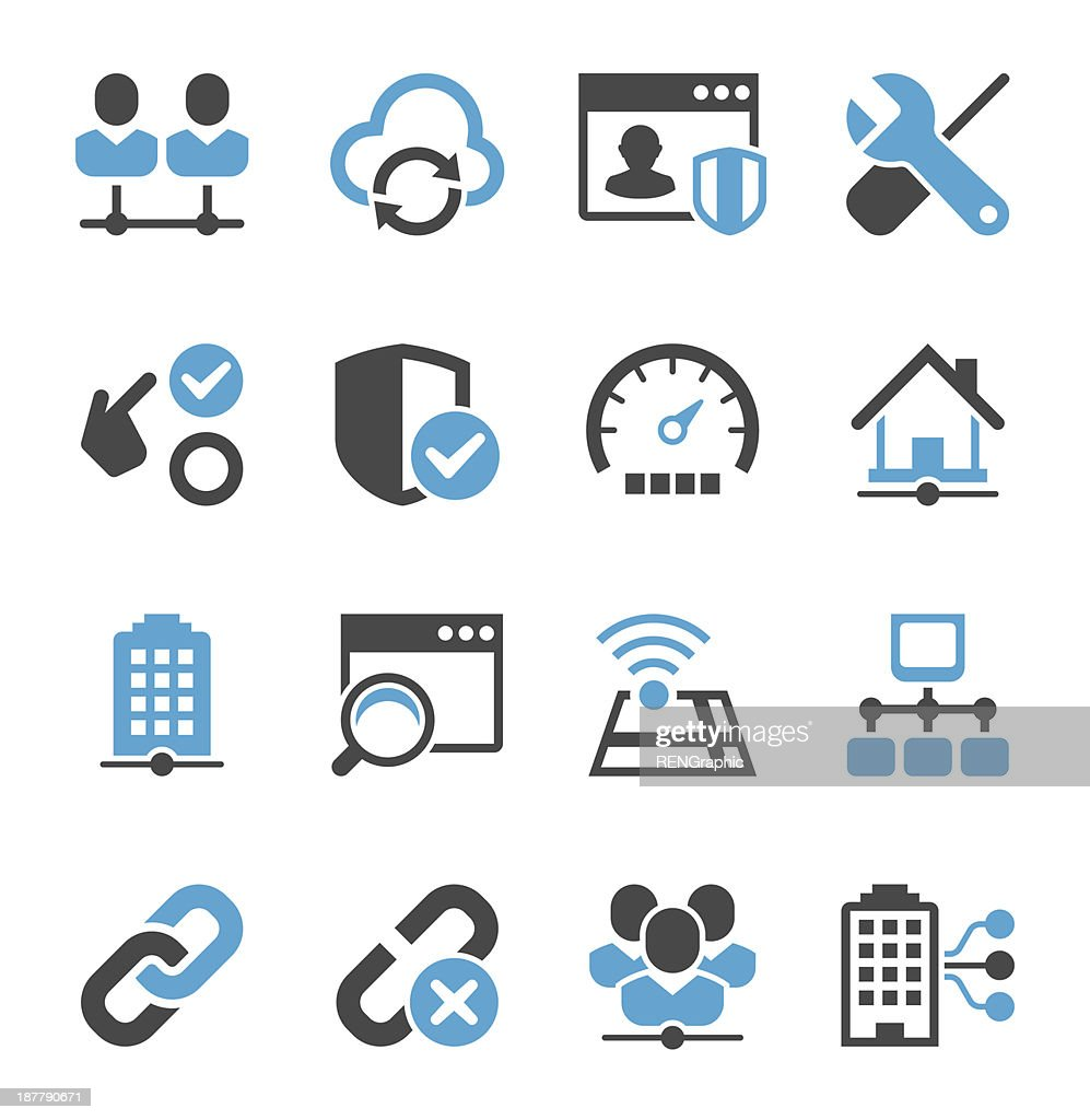 Network Icon Set | Concise Series