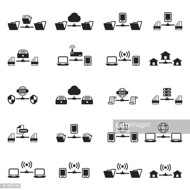 Ensemble d'icônes de réseau