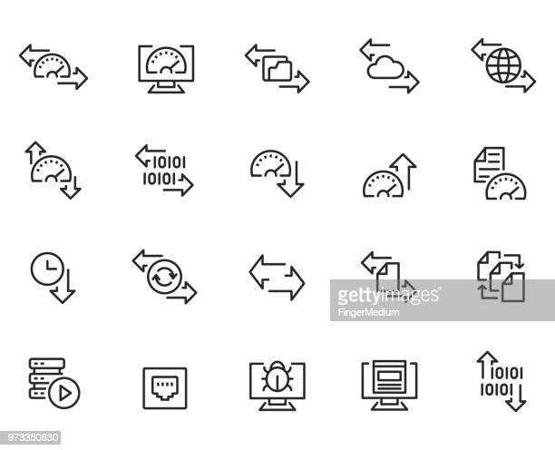 ネットワークのアイコンセット - イメージ転送点のイラスト素材/クリップアート素材/マンガ素材/アイコン素材