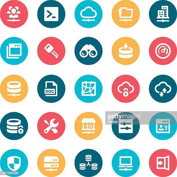 stockillustraties, clipart, cartoons en iconen met network icons - vpn