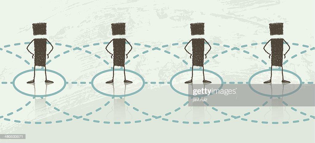 Network: Linear : Vector Art