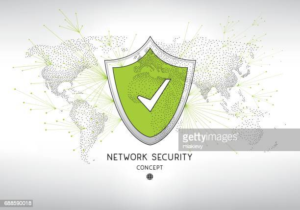Network security shield concept