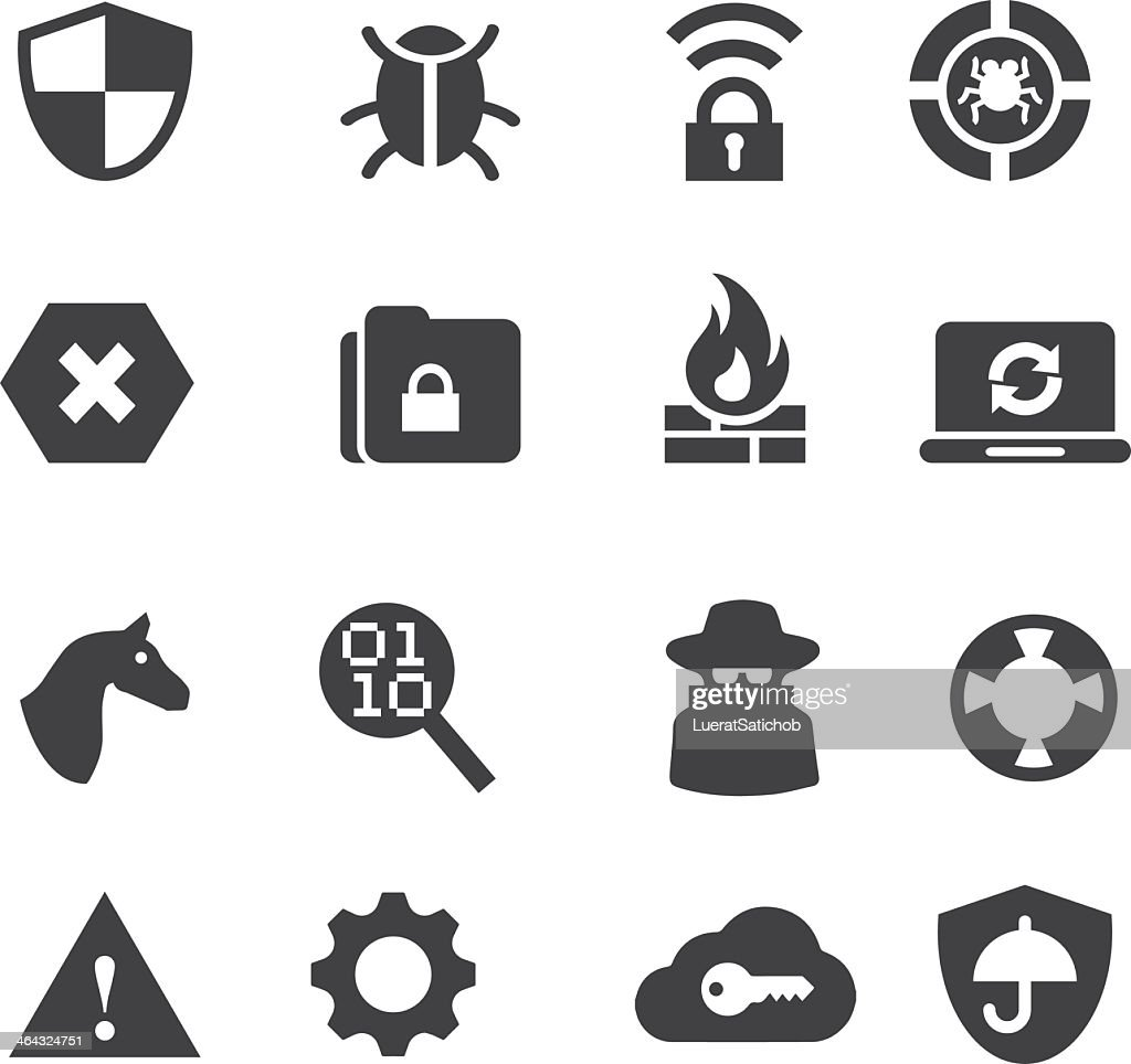 Network Security Silhouette icons