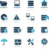 Network, Server & Hosting Icons // Azure Series