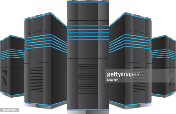 network server - cabinet stock illustrations, clip art, cartoons, & icons