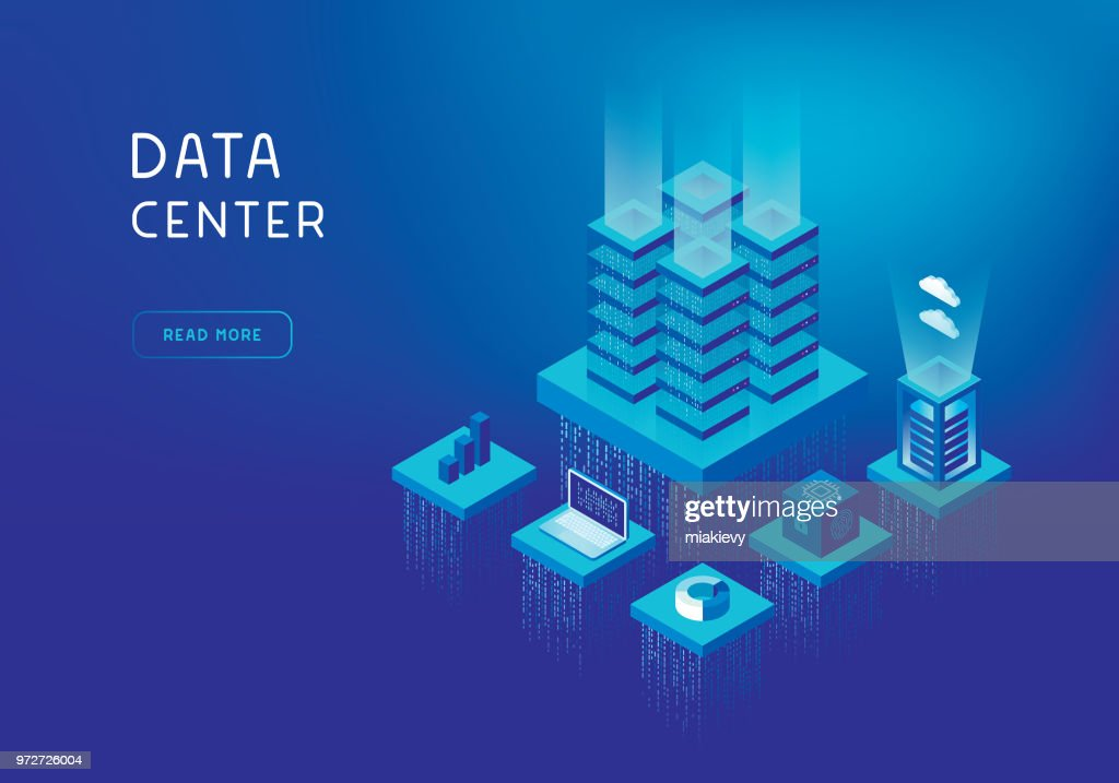 Network servers concept : stock illustration