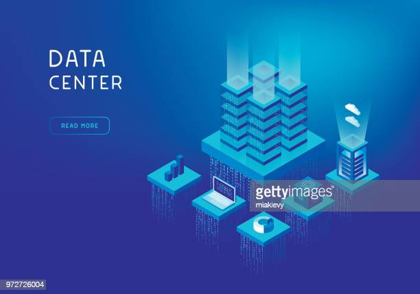 network servers concept - data stock illustrations
