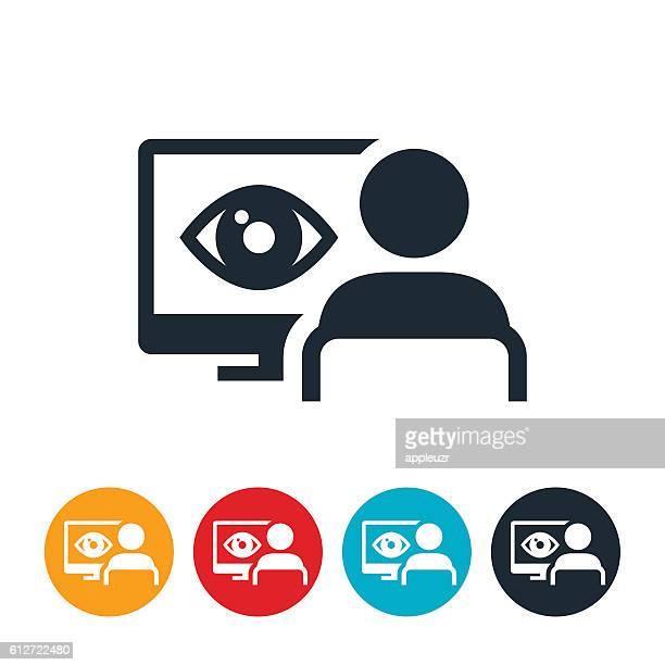 network surveillance icon - big brother orwellian concept stock illustrations, clip art, cartoons, & icons