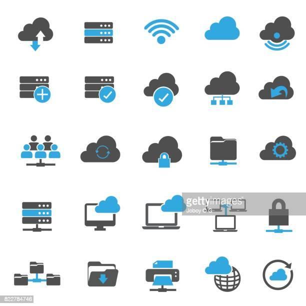 Netzwerksymbole Technologie