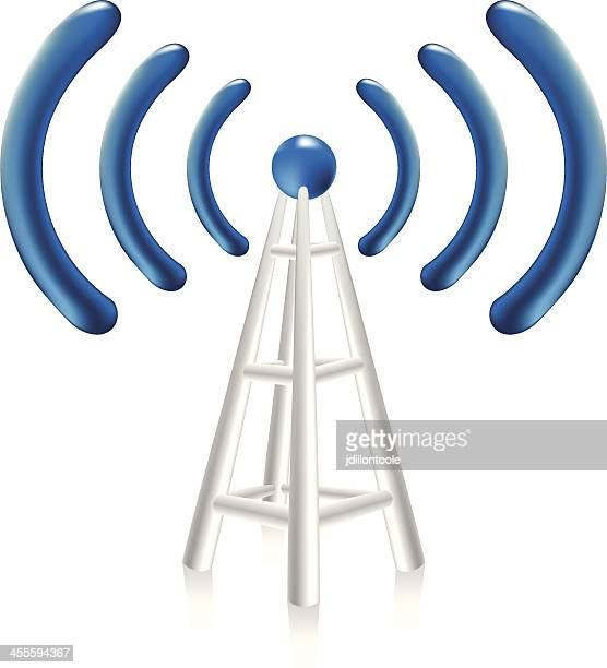 network tower | wireless connection - tower stock illustrations