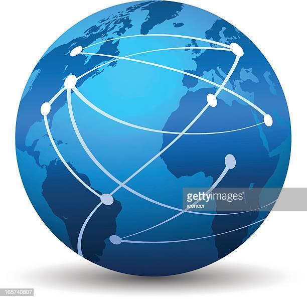 ネットワーク世界各国 - ウェブ2.0点のイラスト素材/クリップアート素材/マンガ素材/アイコン素材