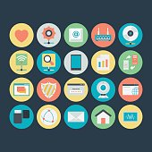 Networking Colored Vector Icons 5