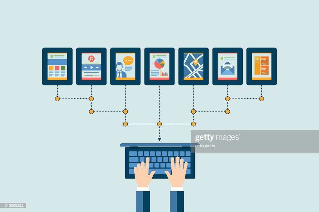 Networking concept. Flat design for web sites and infographic design : stock vector