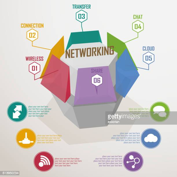networking honeycomb cube - finanzen und wirtschaft stock illustrations
