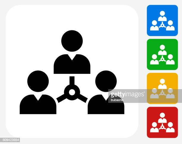 Networking Icon Flat Graphic Design