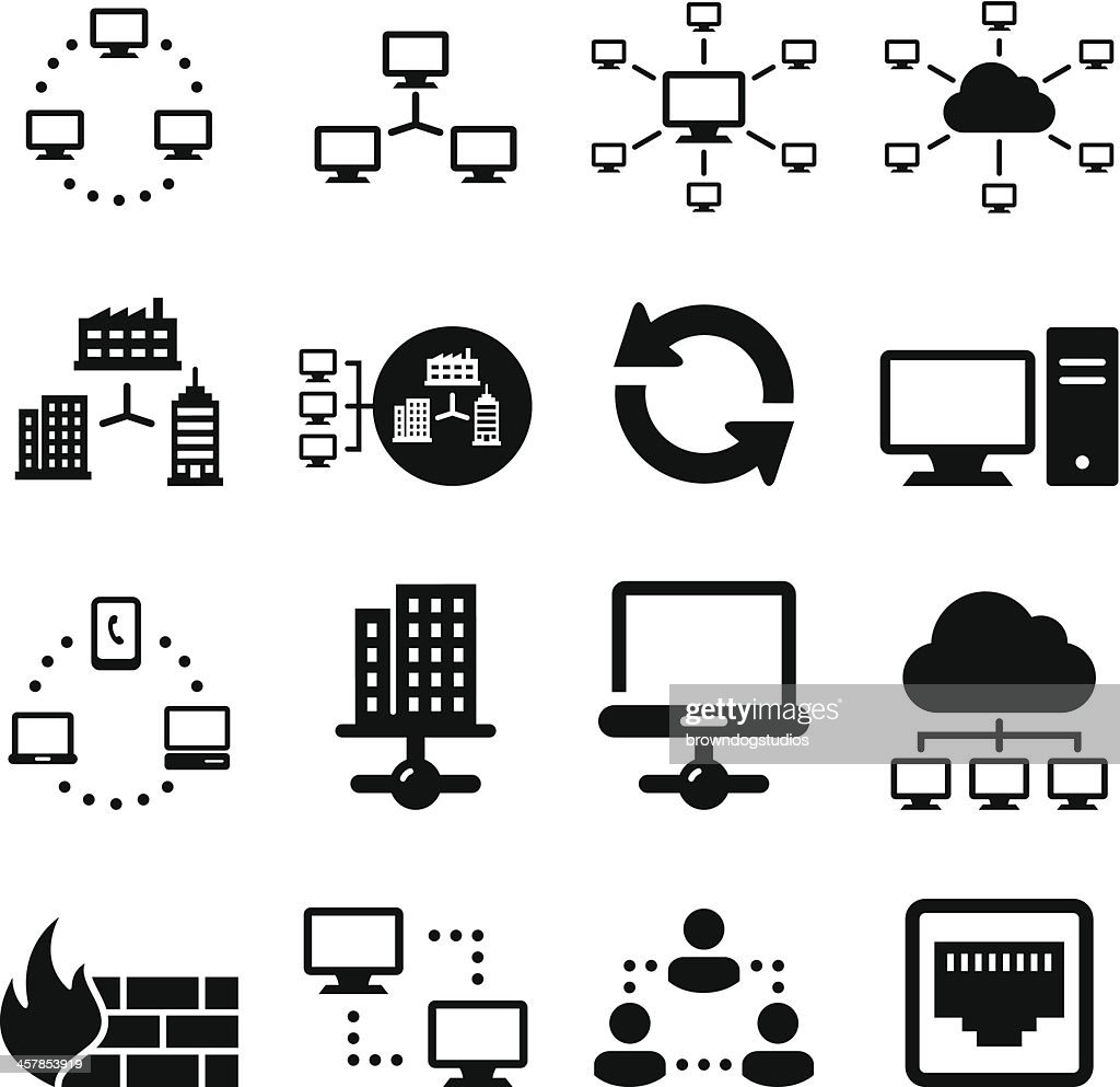 Networking Icons - Black Series