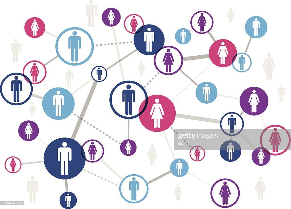 Networking People : Vector Art