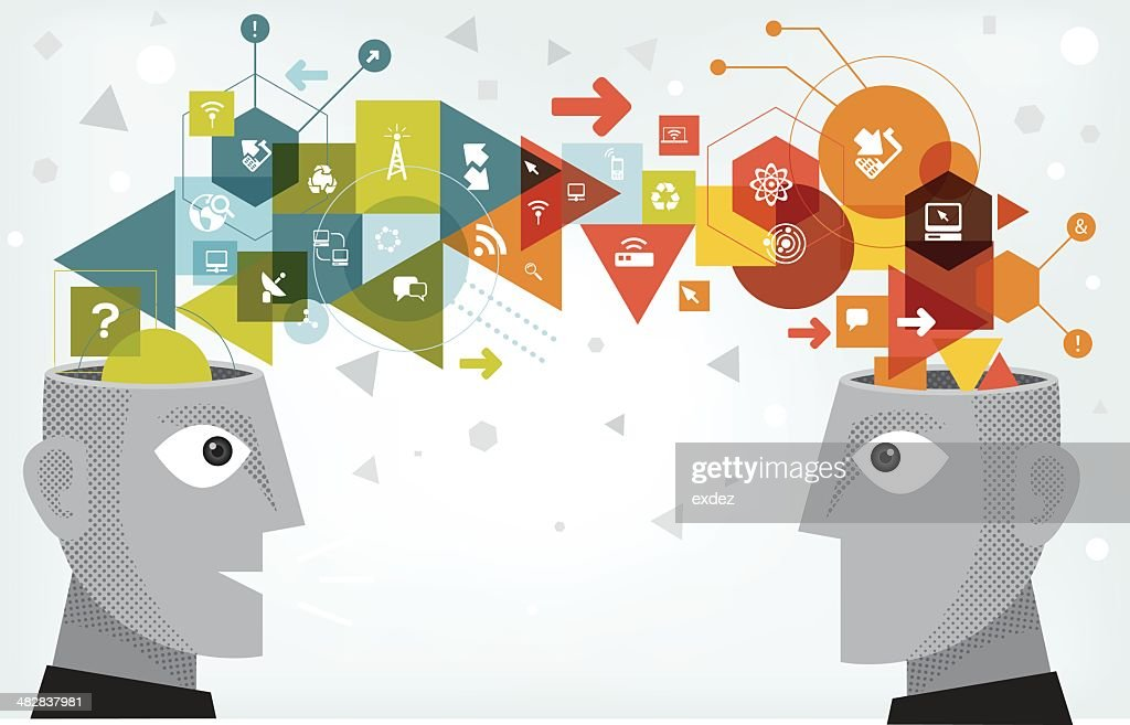 Networking technology sharing : stock illustration